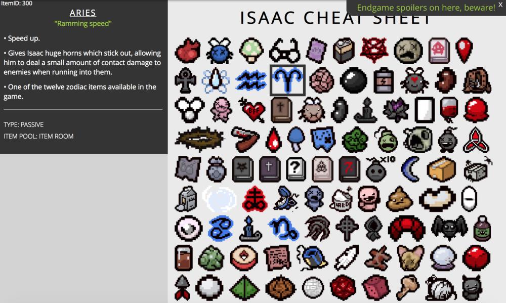 Binding of isaac rebirth cheat sheet elhouz