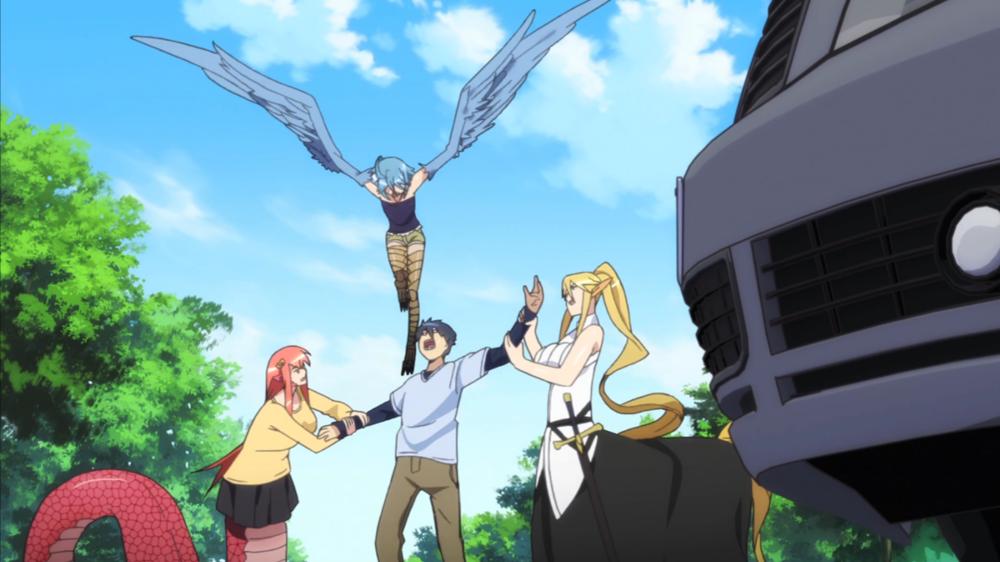 Monster Girls fight over Kimihito