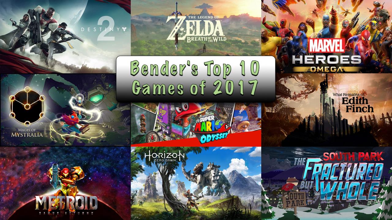 Bender's Top 10 Games of 2017 — Short Pause