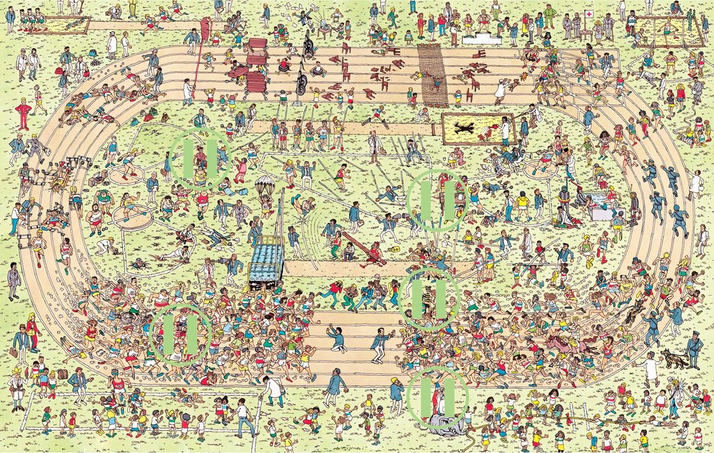 Where's Waldo - PyeongChang Olympic Stadium, South Korea