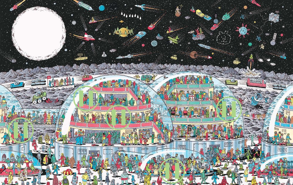 Where's Waldo - Picard Crater, the Moon