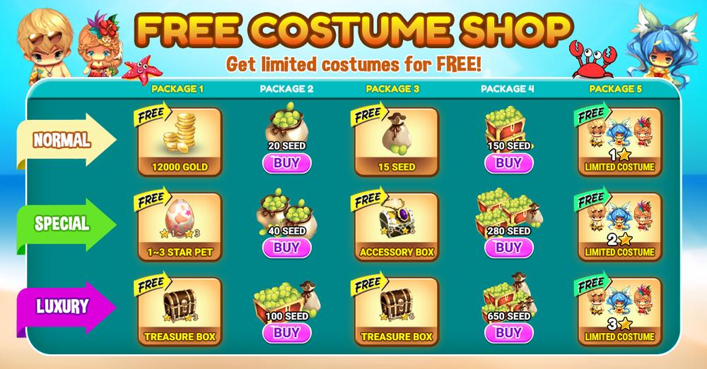 Free Costume Shop
