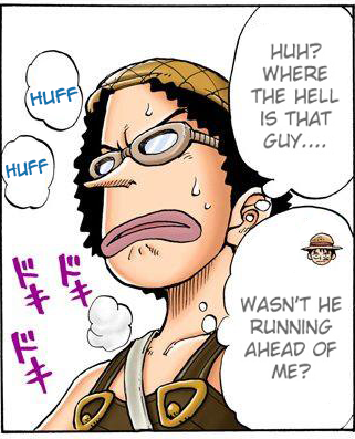 Usopp, now in the North, wonders where Luffy is. ( One Piece , chapter 29)