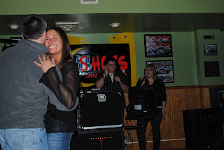 Mike & I dancing while Alec & LeAnna sing Faithfully