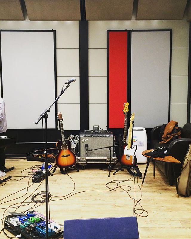 Rehearsals w/ @auden_guitars @fender