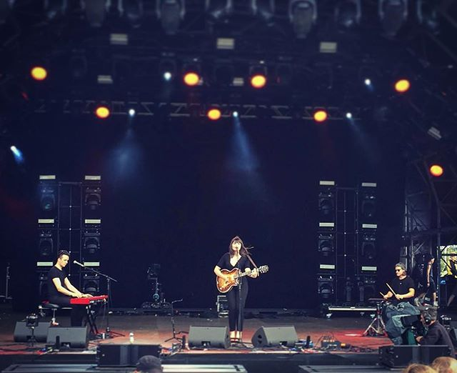 Great to play on the Main Stage at Bestival today with Alice Jemima. @nordkeyboards