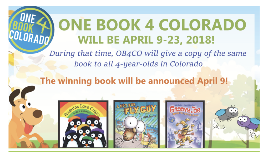I had the BEST news today!  Penguins Love Colors is a finalist in the amazing One Book 4 Colorado competition!  What an honor!  FINGERS CROSSED :)