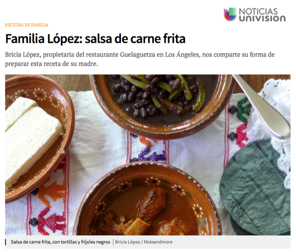 Bricia shares family recipes on Noticias Univision