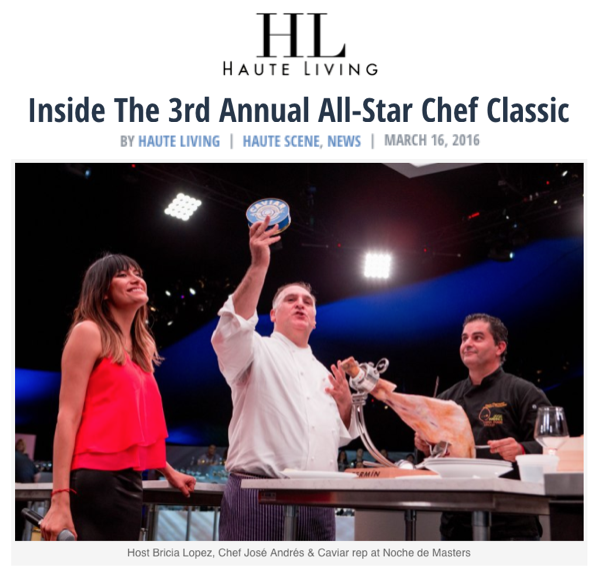 Inside the All-Star Chef Classic with Haute Living