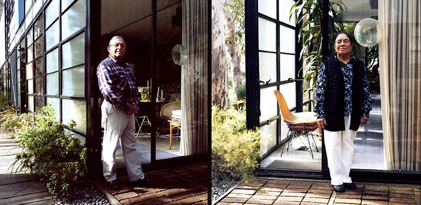 Oscar y Teresita. Eames House, Pacific Palisades. California. Marzo 2009