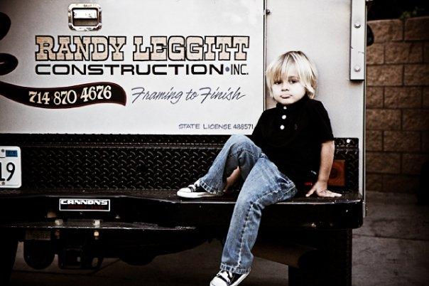 Grandson Logan. Next generation of Randy Leggitt Construction.