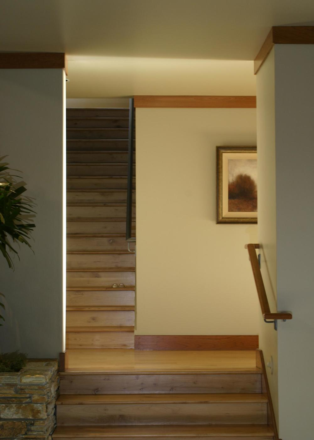 View of stair to Recreation Room upstairs