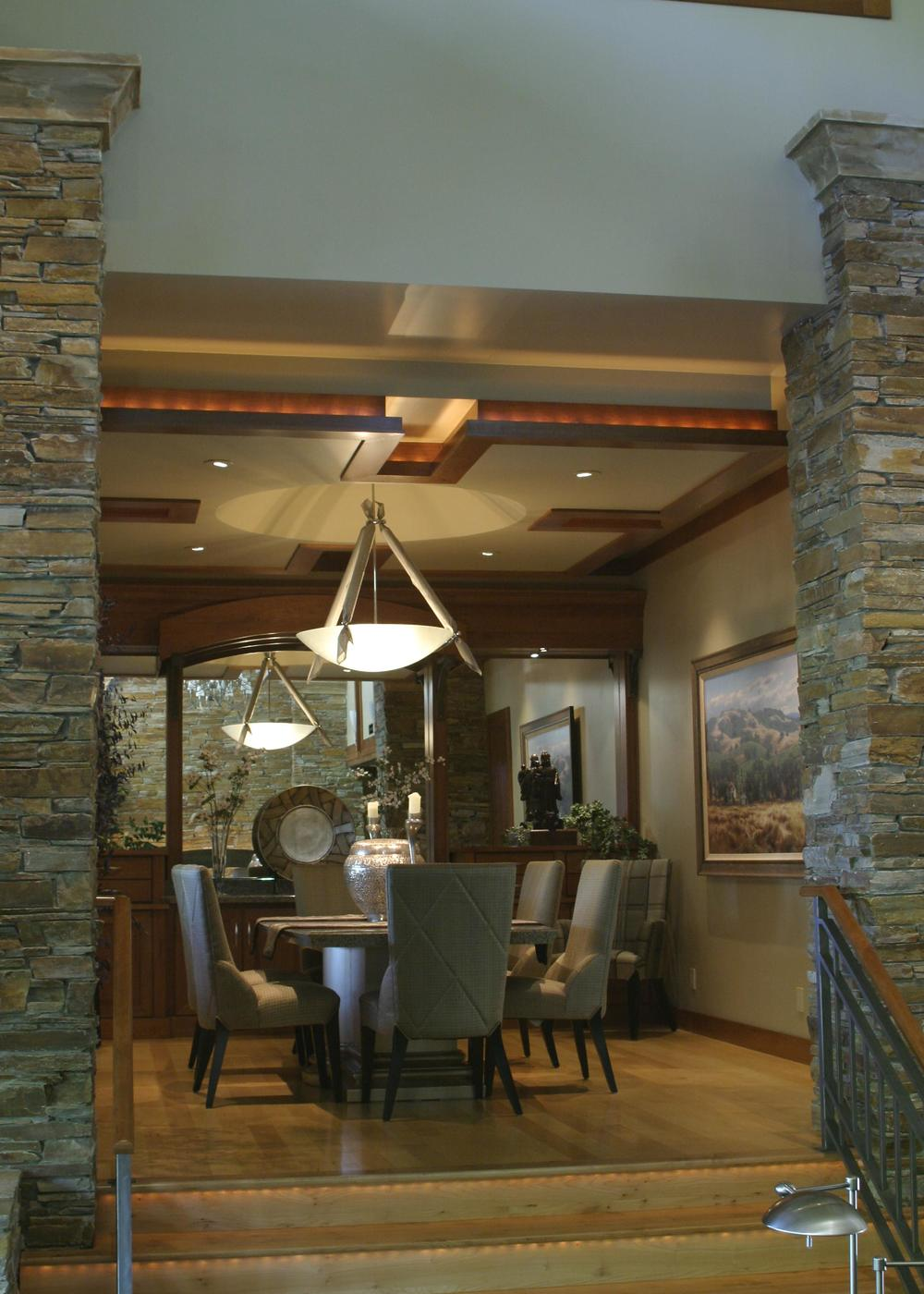 View of Dining Room from Great Room.
