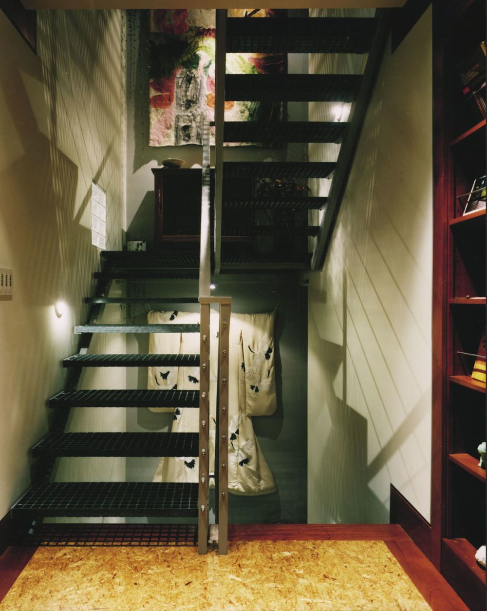 View of four-story stairwell.