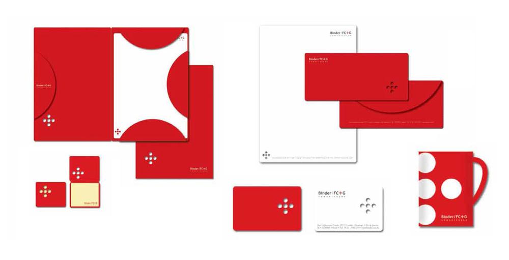 A Madre também tem outras agências como cliente. Aqui, a programação visual e papelaria da Binder.
