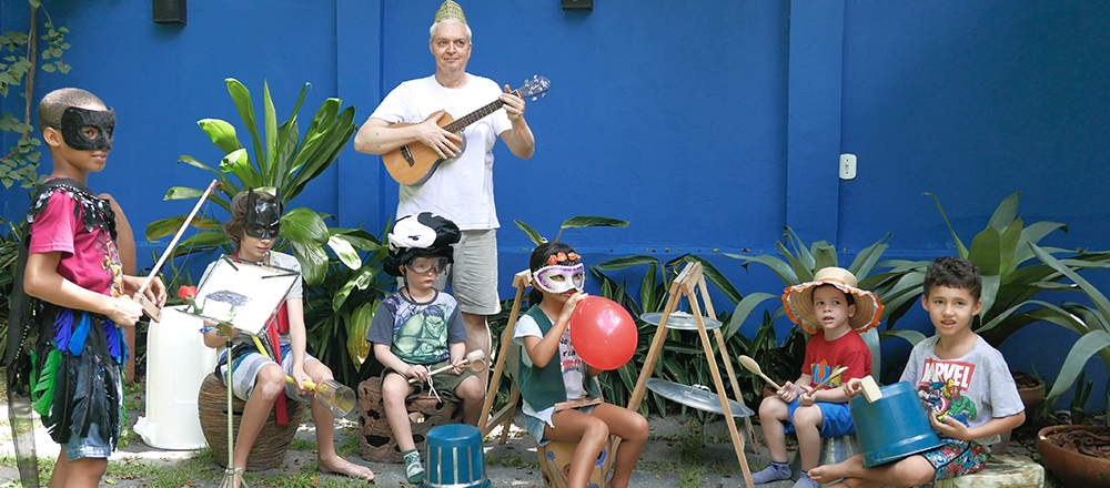 Inventando Música - Dodo Ferreira balançou o Cedro da Gávea. O workshop de música para crianças aconteceu em 2 tempos: de manhã, os pequenos, e a tarde, os maiores.