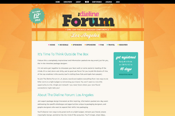 Website design for thedielineforum.com