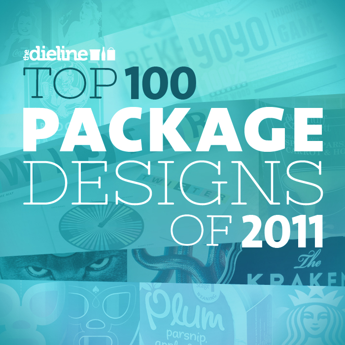 Editorial graphic for a feature on the top 100 Package designs of 2011