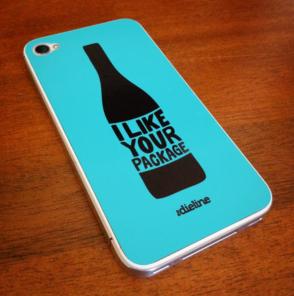Promotional iPhone skin for The Dieline Forum