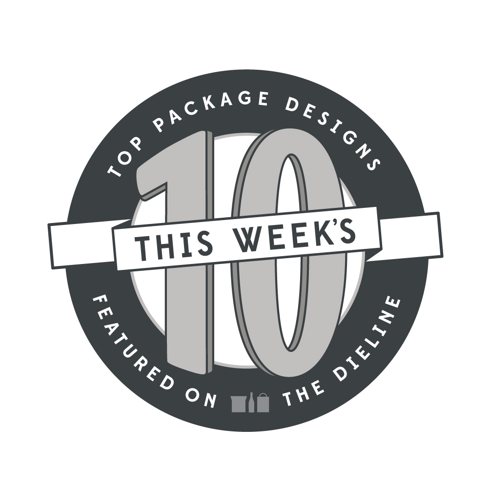 Top ten package designs stamp/badge