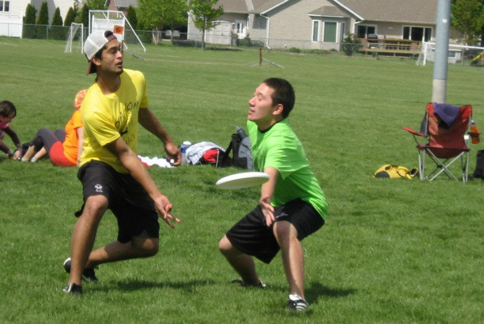 One of our own, Peter, being the master at Ultimate.