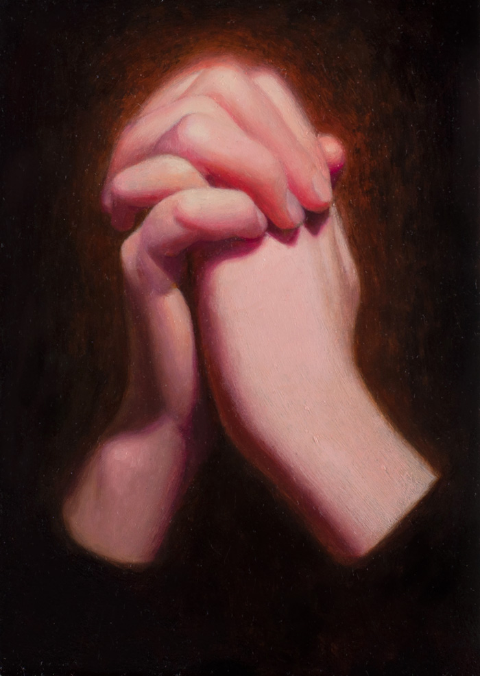 Faith 7'' x 5'' Oil on panel Private Collection