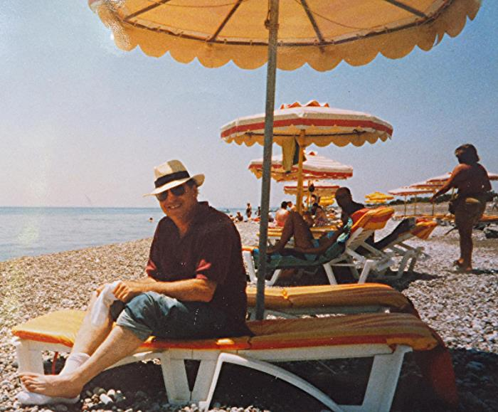 lenny, at the beach, rodos, greece, 2003