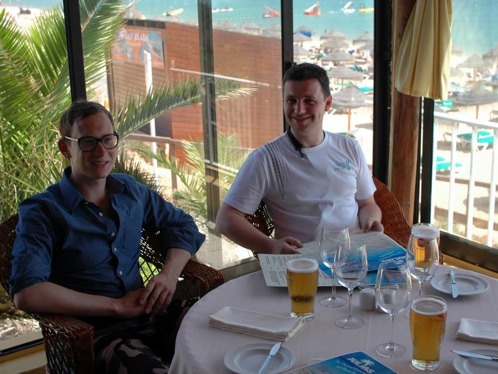pawel and lukasz, enjoying life, faro, portugal, summer 2011
