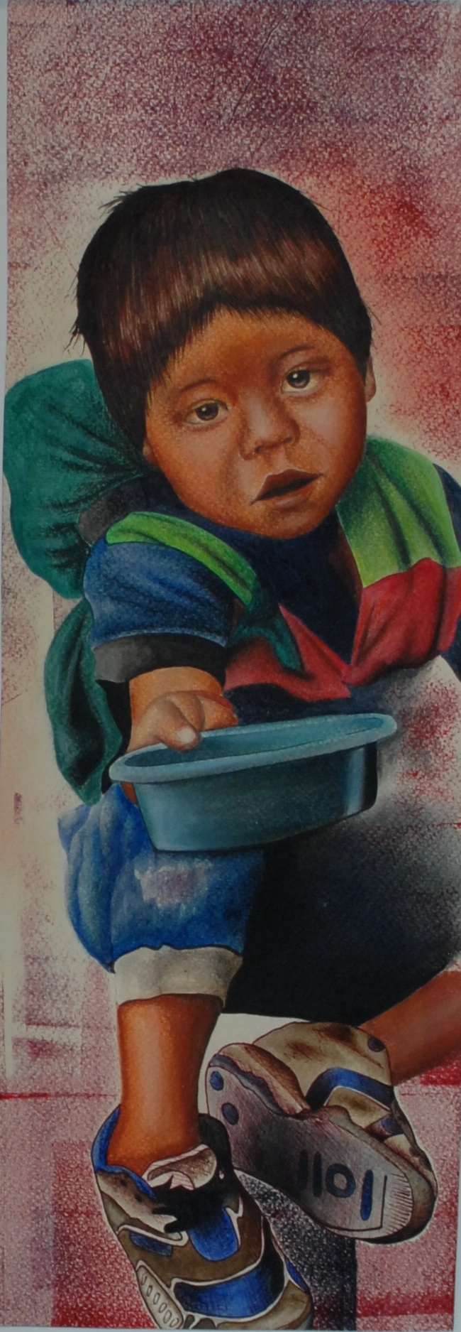 "untilted, pastel and mixed media on paper, 20"" x 8 1/2""  SOLD"