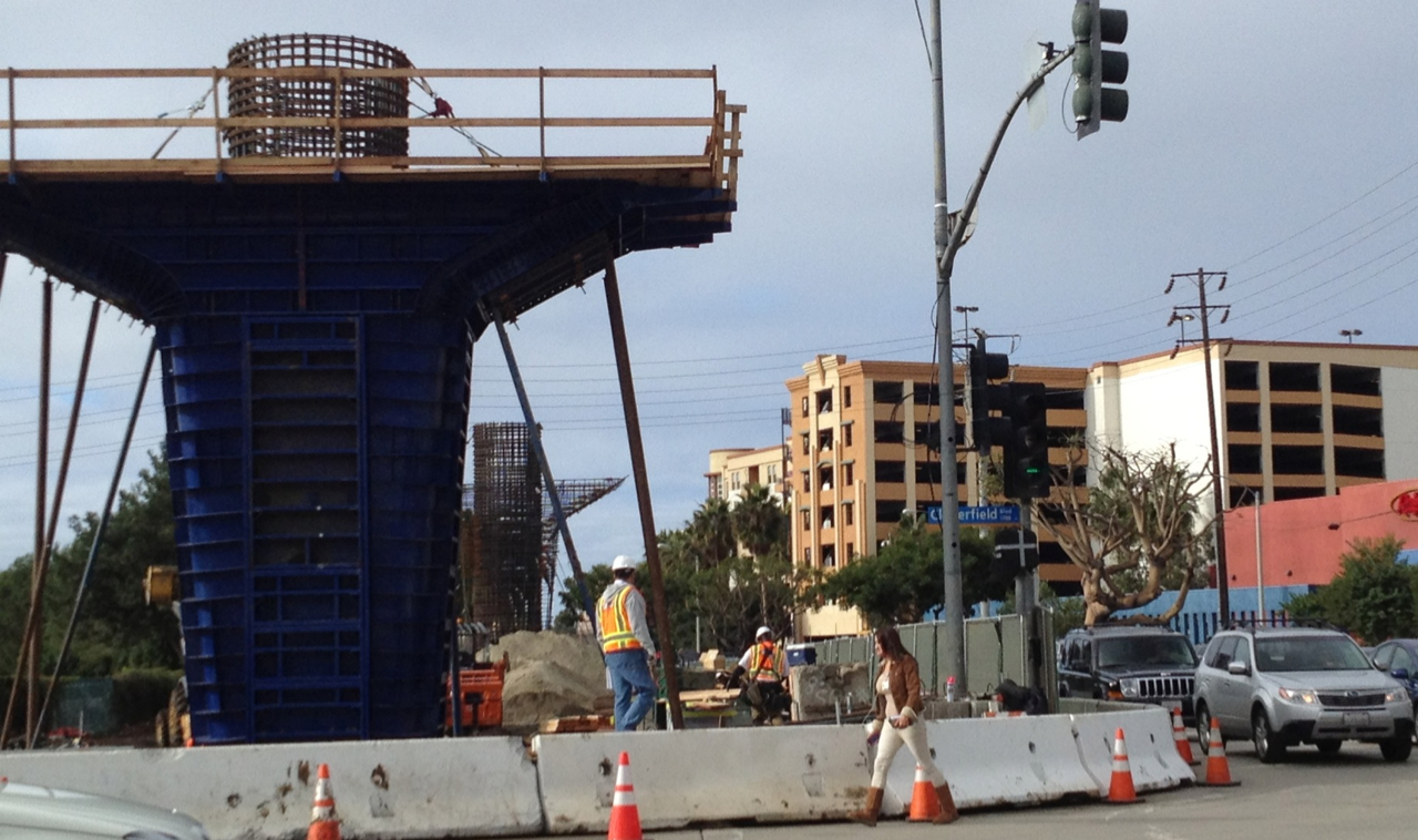 Progress on the Expo line Phase 2. We can't wait for the line to open!