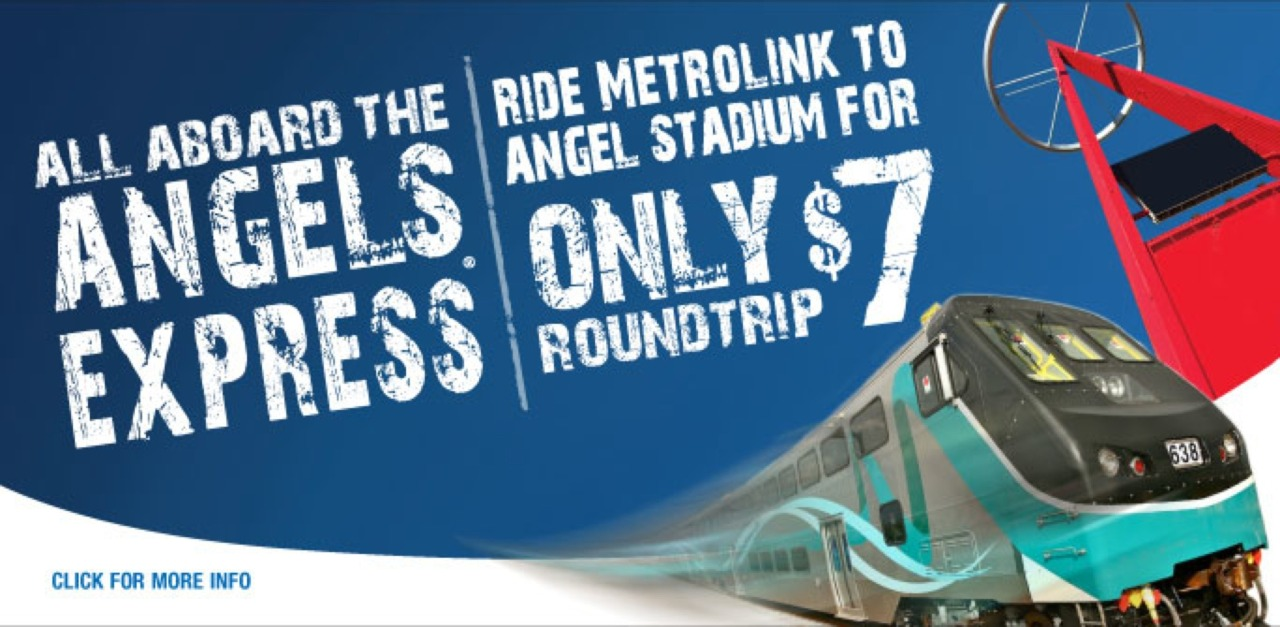 Only $7 roundtrip: Metrolink Service to Angels Games.