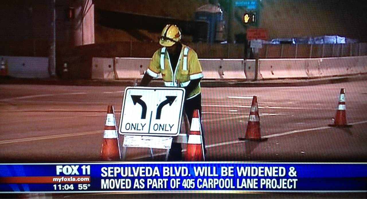 Fox 11 News covered the Sepulveda Blvd construction work on tonight's show. For more about the construction, see Metro's The Source.