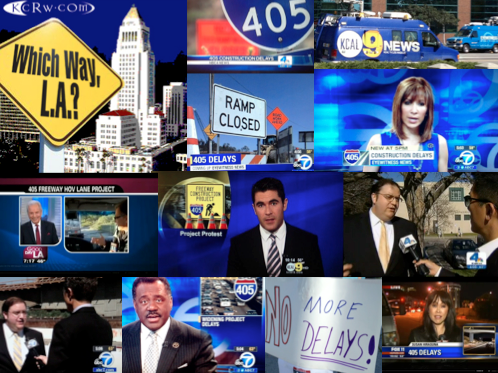 Angelenos Against Gridlock's Faster 405 Campaign  has been featured on the majority of LA's major news stations.