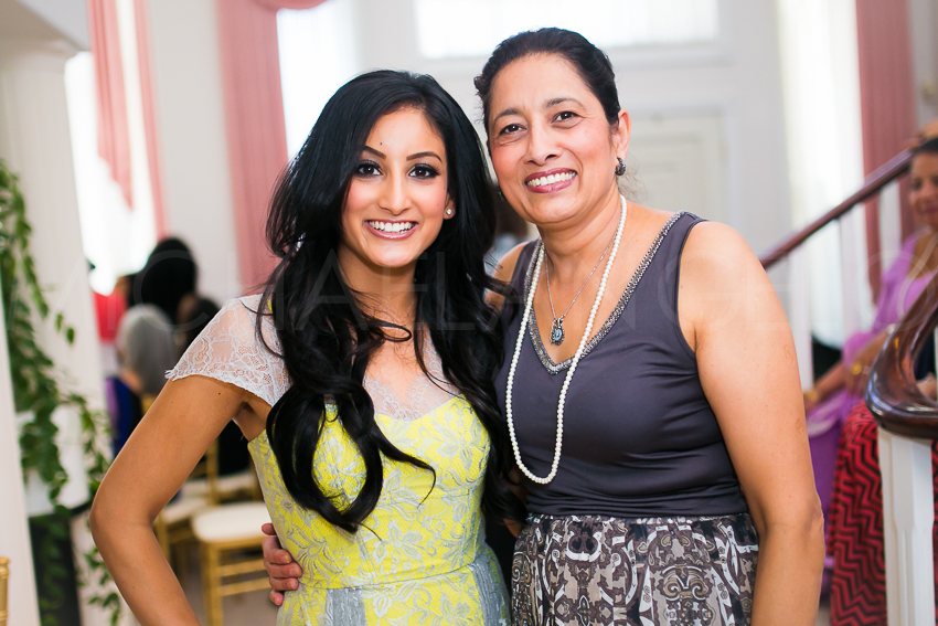 Jasmine with equally beautiful Mom, Talvinder.