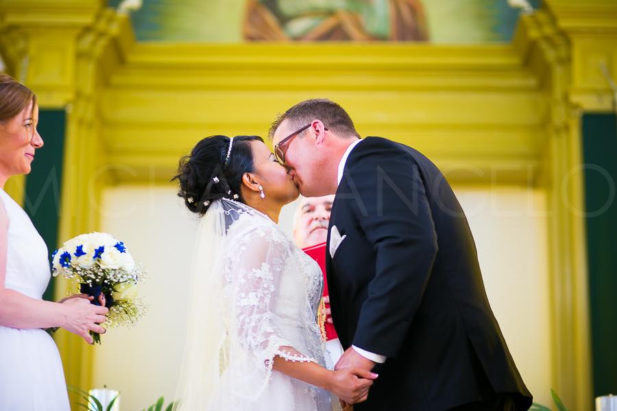 First kiss.