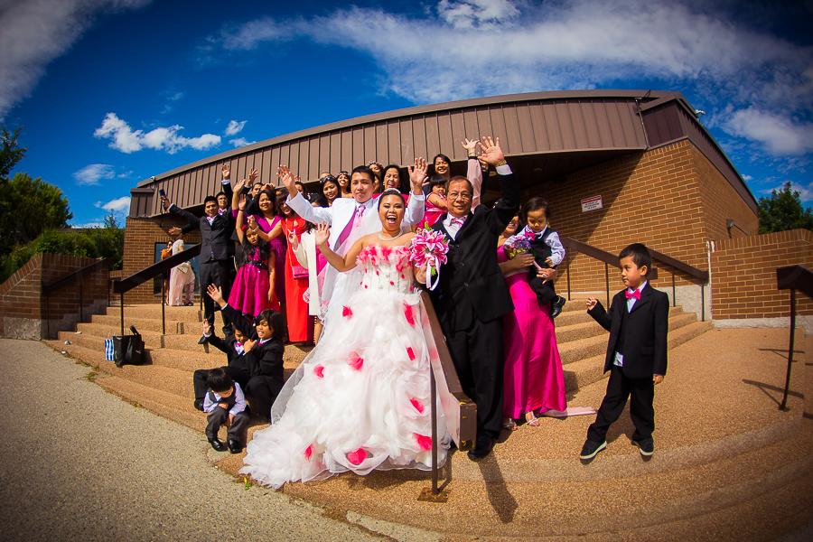 The June bride, Maria Andrea De Luna and Xandy Collao with the fam!
