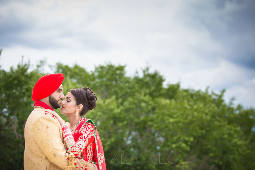 Chanpreet and Gurdeep on their wedding day.
