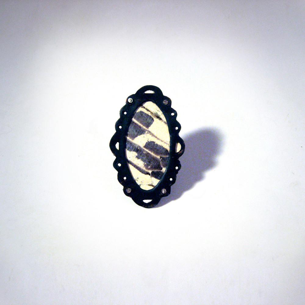 Black and White Snake Ring