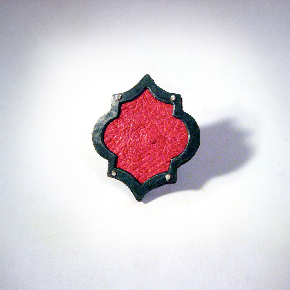 Red Leather Ring
