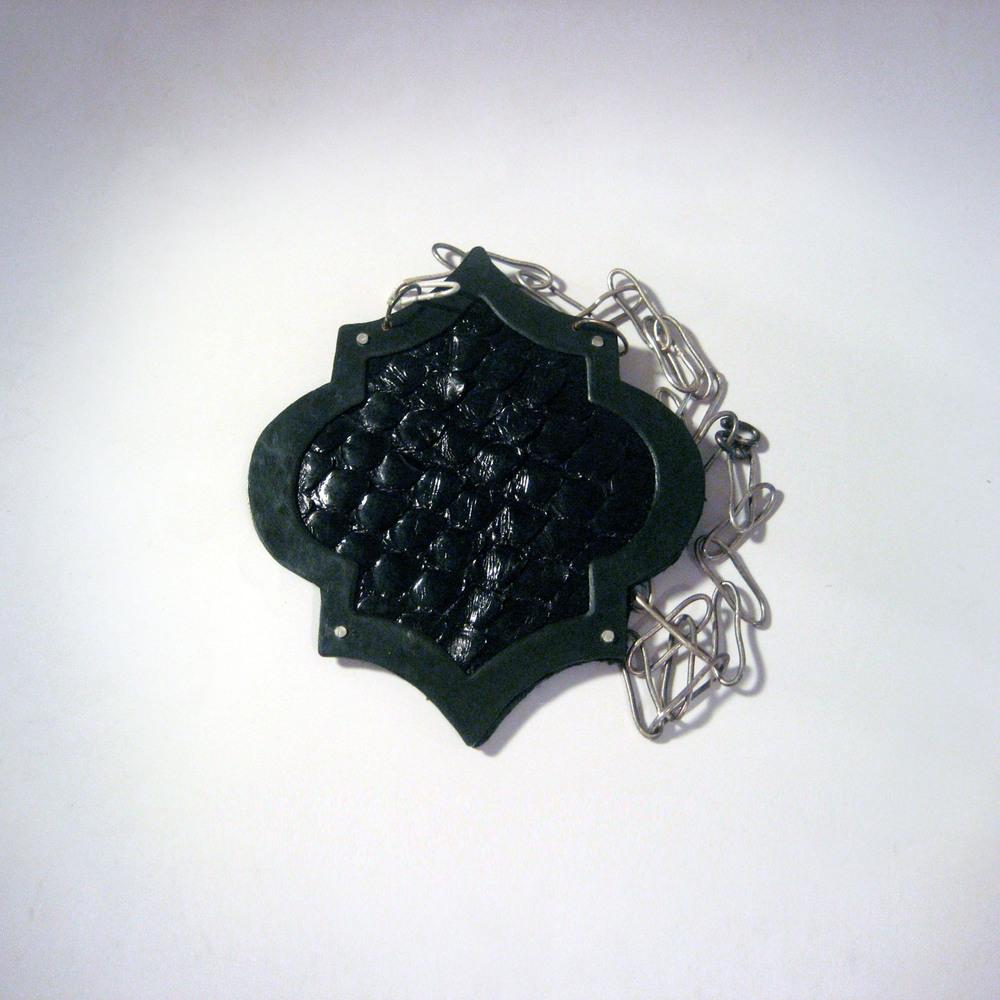 Black Snake Tile Necklace - Large