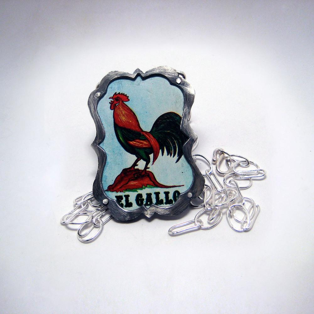 El Gallo Loteria Necklace