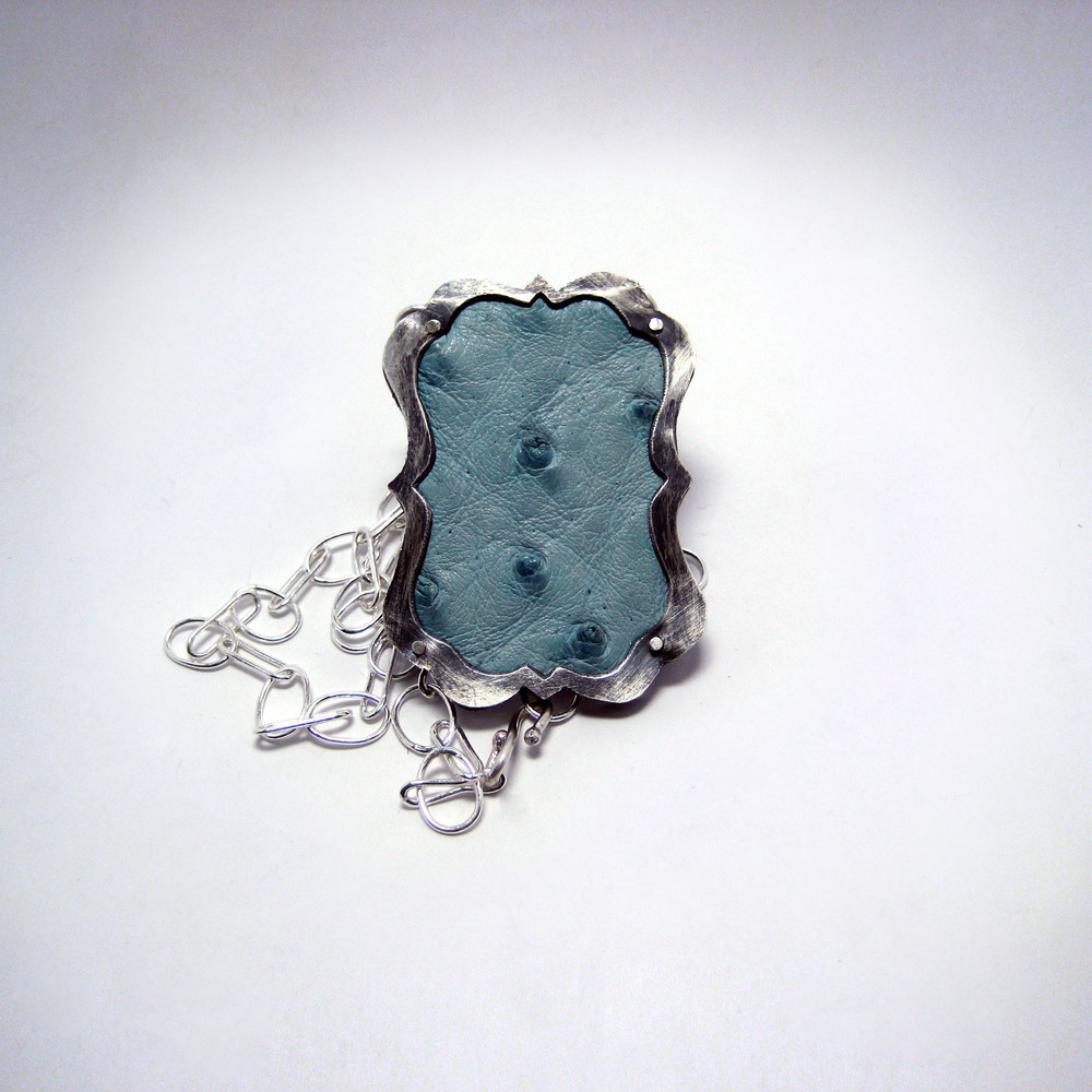 Blue Ostrich Necklace