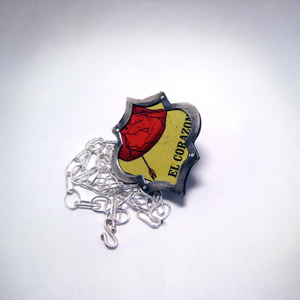 El Corazon Loteria Necklace