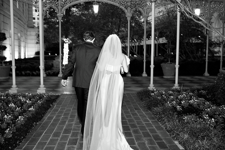 1. Blake featured in the Christine A-line gown, custom black sash & cathedral veil from the Victoria Sdoukos Couture Collection. Wedding took place in Texas.. Love it!!! Photography:http://perezweddings.com