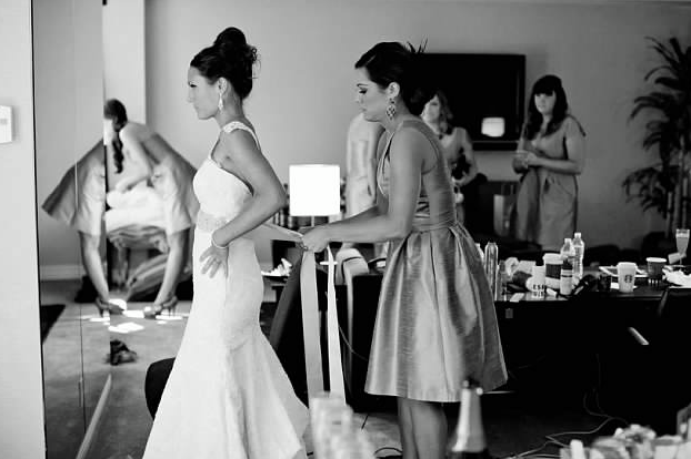 5. Love, love, love... My Hollywood Star bride looks gorgeous getting ready on her Wedding Day! Reminds me of those behind the scene photos of the stars getting ready. Erin is wearing the Agape gown made with alencon lace & custom sash from the VSC Collection.