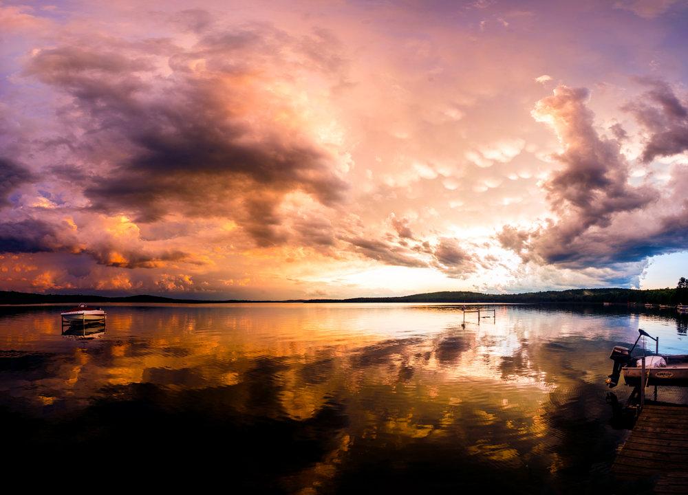 SunsetPanoLakeDock.JPG