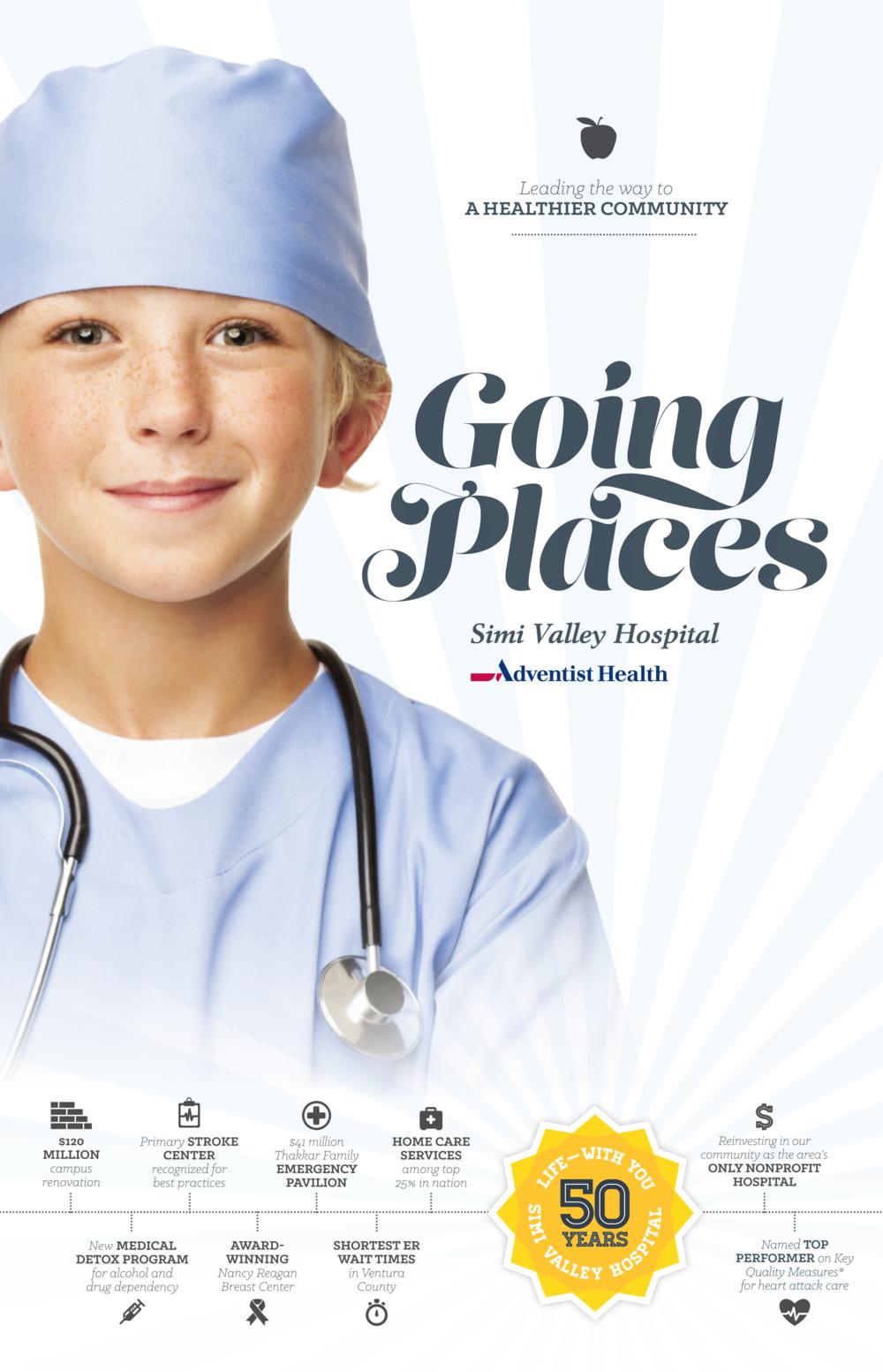 Simi Valley Hospital 50-Year Anniversary Print Ad