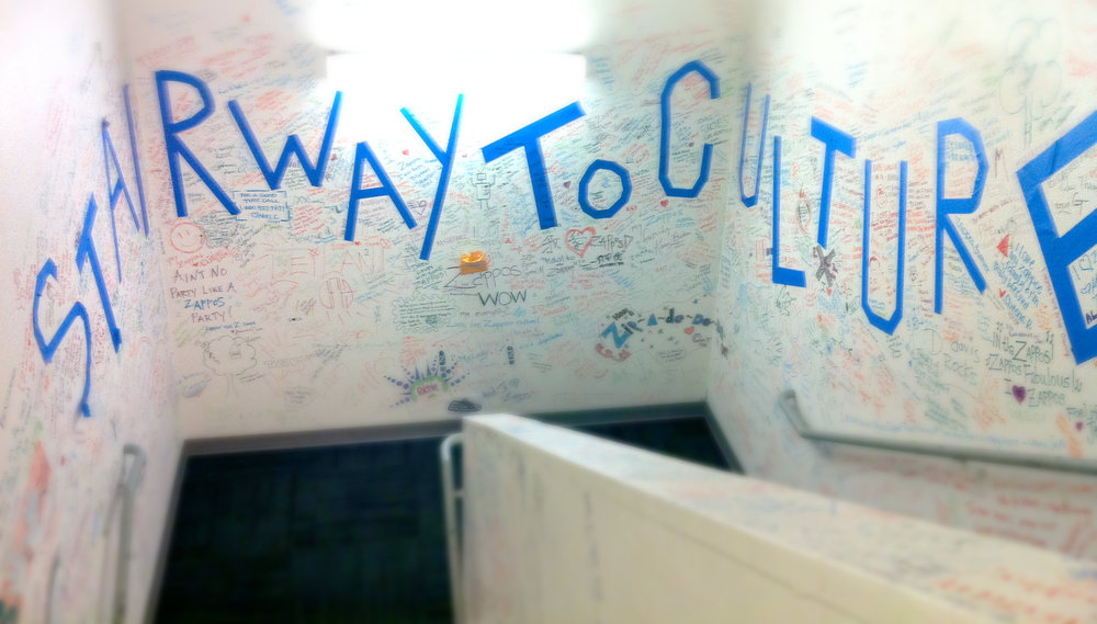 "The ""Stairway to Culture"" in the  Zappos  Headquarters"
