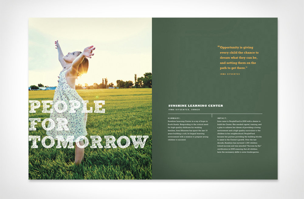 Annual report by  Make&Matter  for  PeopleFund.