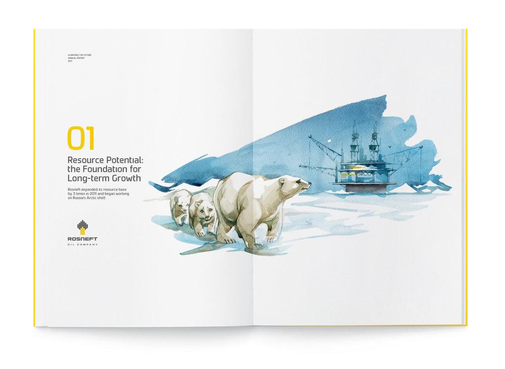 Annual report by  Volga Volga  for  Rosneft.